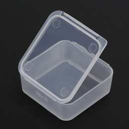 Wholesale Finish Jewelry Box - 3.9*3.9*1.5cm PP Transparent Plastic Small Square Cartridge Storage Box With Lid Part Accessories Finishing Box ZA5127