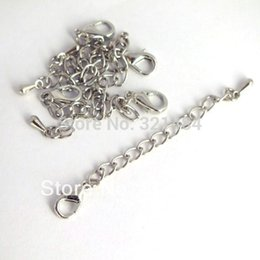 Wholesale Extender Tip - Wholesale Dull silver Tone 1000pcs Necklace End Connector Link Extender Chain 12mm Lobster clasp Tear Drop Tip Jewelry Findings