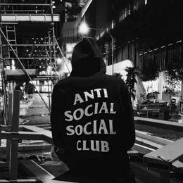 Wholesale Khaki Hoodie - Anti Social Social Club Hoodies For Men Women Kanye West Fleece Cotton Sweatshirt Lovers Streetwear Letters Printed Sweatshirts Coats