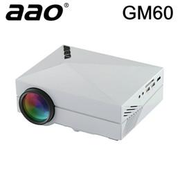 jeux vidéo à succès Promotion Vente en gros - Vente chaude AAO GM60 Mini Projecteur à LED GRATUIT CADEAU HDMI CABLE 1000lumens Home Cinema pour jeux vidéo Support TV HDMI VGA AV SD