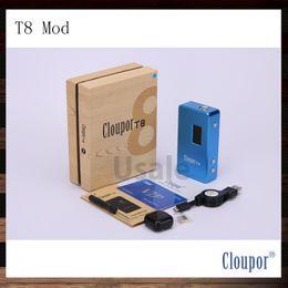 Wholesale Mechanical Mod Electronic Cigarette - Cloupor T8 150W Box Mod Dual 18650 Battery 100% Original VV VW Electronic Cigarette Mechanical Mods Fit for Aspire Atlantis
