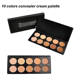 Wholesale Professional Makeup Foundation Palette - 10 Colors Cream Concealer Makeup Facial Concealer Cream Foundation Makeup Concealer Palette Professional Cosmetic 2802005