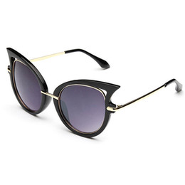 Wholesale Dita Glasses - Wholesale-2015 Stars Dita Von Teese Eyewear Sexy Sunglasses Women Fashion Cat Eye Glasses For Party Mercury Coating Lens