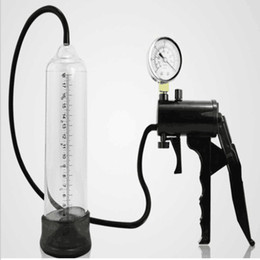Wholesale Sex Toys Men Free Shipping - Male proextender penis enlargement pump device manual vacum pump adult sex product for men sexy toys free shipping