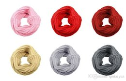 Wholesale Infinity Scarves Letters - Newest Women Winter Warm Infinity Knit Cowl Neck Long scarf Shawl infinity Scarf DHL free shipping 50PCS LB14