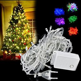 Wholesale Led Festival Decorative - 10M 100 LED fancy ball Lights Decorative Christmas Party Festival Twinkle String Lamp garland 9 Colors Free Shipping