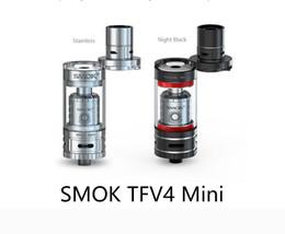 Wholesale Tfv4 Coils Clone - smoktech smok tfv4 mini full kit kits tank tanks atomizer clearomizer ni200 coil coils sub ohm clone xcube 2 mods sub ohm head