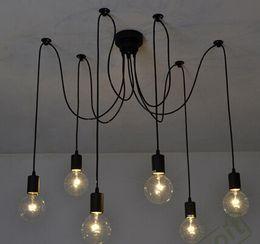 douille de lampe à suspension Promotion Edison Retro Spider Chandelier Eclairage 6 E27 Edison Retro Spider Eclairage AC 110-240V (sans ampoule)