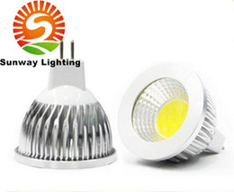 Wholesale Led Mr16 Cob 5w Dimmable - LED sportlight Super bright COB GU10 Led 5W 7W 9W bulbs light 60 angle dimmable E27 E26 E14 MR16 warm pure cool white 110-240V 12V lamp