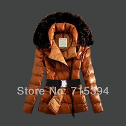 Wholesale Women S Goose Down Coats - Wholesale Sale Top top quality Down Jacket For Women Fashion Coat Outerwear Fur Collar Clothes Goose Lady Parka my011