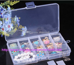 Wholesale Tiny Plastic Storage Boxes - 250pcs lot Adjustable Compact 15 Grids Compartment Plastic Tool Container Storage Box Case Jewelry Earring Tiny Stuff Boxes Containers