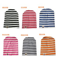 Wholesale Newborn Red Cap - The factory wholesale children's hat Man sets head cap stripe suit for baby Pure cotton To keep warm