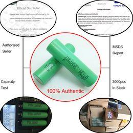 Wholesale Box Korea - 100% Genuine Korea 25R 18650 High Drain Battery For E Cigarette Box Vape Mods With Original Samsung MSDS Battery Report