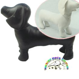 Wholesale Mannequin Clothes - AB004 Pet products dog models black white leather standing dog model props clothing display products dog mannequin