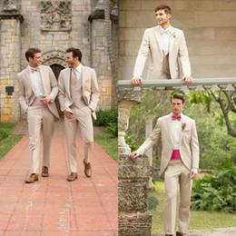 Wholesale Mens Waistcoats Custom - New Arrival Custom Made Fashion Simple Groom Tuxedos Fashion Classic Mens Wedding Suit (Jacket+Pants+Tie+Waistcoat)