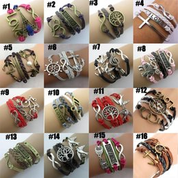 Wholesale Jewelry For Black People - Infinity bracelets HI-Q Jewelry chic fashion Mixed Lots Infinity Charm Bracelets Silver lots Style pick for fashion people E26J