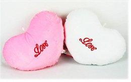 oreiller léger mené en gros Promotion Gros-OP-FREE CHAUD LIVRAISON Coeur d'amour coloré LED, oreiller de lumière LED, oreiller, Noël