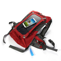 Wholesale Hunting Solar Charger - Solar Charging Bag Blue & Red USB Charging Cable Water Bag Solar Backpack Solar Charger Back Pack Bag 6.5W Solar Camel Bag eotw