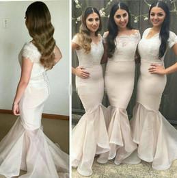 Elegant Schulterfrei Meerjungfrau Brautkleider 2018 Top Spitze Hallo Niedrig Plus Size Afrikanische Trauzeugin Hochzeitsgast Party Kleider von Fabrikanten