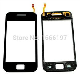 Wholesale Galaxy W Touch - Wholesale-Black Touch Screen Glass Digitizer Replacement Lens For Samsung Galaxy W GT i8150