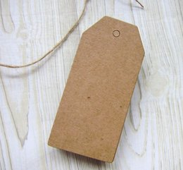 Wholesale Clothes Cards Price Tags - 200pcs Lot Quality Kraft Paper Hang tags Custom Special Shape Clothing Tag Garment tags Blank Card Tag Best Prices With String