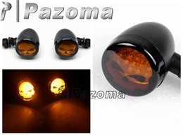 Wholesale Turn Lights For Motorcycles - Black Motorcycle Skull Turn Signals lights For For Suzuki Boulevard M109R M50 M90 M95 - Pazoma