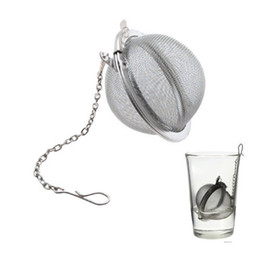 Wholesale Steel Mesh Tea Ball - Stainless Steel Tea Pot Infuser Sphere Mesh Tea Strainer Filler Ball Strainer Ball 5cm DHL Free Shipping