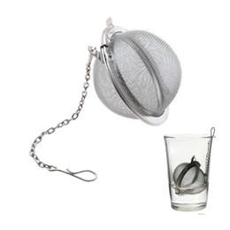 Wholesale Metal Pots - Stainless Steel Tea Pot Infuser Sphere Mesh Tea Strainer Filler Ball Strainer Ball 5cm DHL Free Shipping