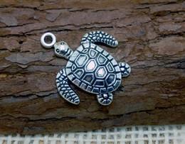Argentina Venta al por mayor 20 unids / lote 3.5 CM aleación de metal encantos de tortugas marinas accesorios colgantes de joyería para la joyería de bricolaje Suministro