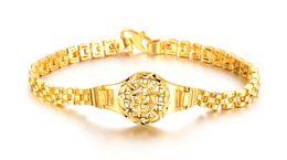 Rapide Livraison gratuite Fine Le cuivre plaqué 18k or jaune hommes et femmes Largeur du bracelet: 5mm Longueur: 18mm peut être prolongée 5cm Poids: 10g ? partir de fabricateur