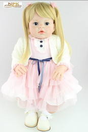 Wholesale Real Doll Materials - Large Real Genuine Reborn Baby Doll Arianna 70 CM 3 KG Taiwan Acrylic Moving Eyes Silicone Material