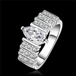 Wholesale Diamond Swiss Ring - 2015 new design 925 sterling swiss CZ Diamond Wedding   Engagement Ring Fashion Jewelry Free Shipping