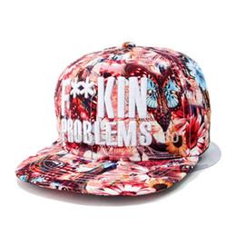 Wholesale-2015 new brand hot sale black gold fuckin problems adjustable baseball  snapback hats and caps for men women sports hip hop cap 93dde1e9e0e3