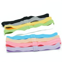 Wholesale Ribbon Baby Headbands - 100pcs baby girls headbands FOE band toddler hair elastic bands kids hairbands children's hair ribbon soft bands