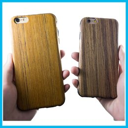 Wholesale Iphone Laser Engraving - 2016 Phone 6s 6Plus Case Wood Grain Laser Engraving Environmental Luxury Cases Phone Wooden Bamboo Hard Case Back Cover