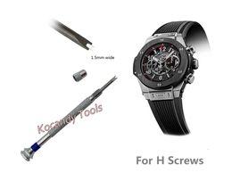 Schraubenreparatur online-Uhr Schraubendreher für H-Schraube Uhr Lünette Band Strap Repair Tool- Doppelkopfklinge ideal für die Reparatur von Uhren