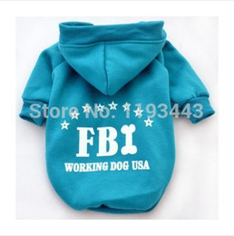 Wholesale Outlet Clothing - Wholesale-Free shipping 2015New PromotionsPet Clothing Factory Outlet FBI dog clothes fleece sweater 2015 new winter -5 color