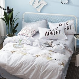 Wholesale Mouse Bedding Set - Mouse Duvet Cover Set 100% Cotton Pear And Star Pattern Printing Bedding Set For Childern Queen Size Bed Linens Soft Bed Sheets