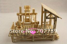 Wholesale 3d Puzzles Chinese House - Wholesale-2015 Limited Rushed Wooden Toys 3d Wood Puzzle Model Miniature Doll House Toy Chinese Agricultural Machinery Free Shipping