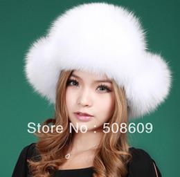 Wholesale Hat Ushanka - Wholesale-New Real Fox Fur Hat Trooper Hat Winter Russian Ushanka Women Cap free shipping 1253