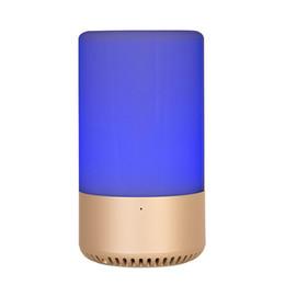 Canada APP / Touch Control Haut-parleur sans fil Bluetooth Haut-parleur maison Carte TF Haut-parleur AUX originalité Haut-parleur RGB Émotion émotionnelle Musique Ampoule Lampe de table à LED DHL Offre