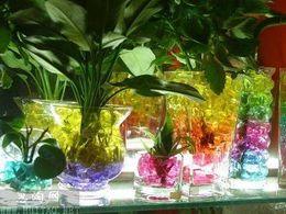 bewässerungsperlen für pflanzen Rabatt 40KGS Wasserperlenperlen 13 Farben Ihre Wahl Kristallbodenschlamm Magic Plant Jelly Wasserabsorbierender Kristall, Polymer, erdfeucht MED