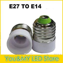 Wholesale E27 E14 Lamp Base Converter - Edison2011 LED Light Bulb Lamp Adapter Converter E14 to E27 Holder Convert E27 to E14 Base Socket For Led Corn Bulb 10PCS