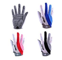 Wholesale Bike Apparel Wholesale - Wholesale-L0235 Free Shipping Brand Authentic Sports Apparel Outdoor Bike Bicycle Racing Riding Gloves 3D Full Finger Cycling Gloves Trid