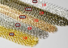 Wholesale Extend Chain - The ancient bronze gold silver Nickel color Rose gold 5.5*3.2MM DIY extended chain stern chain extended chain necklace bracelet