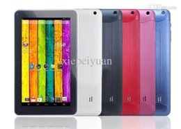 Wholesale Dual Core 9inch - 9Inch 9 inch A33 Quad Core MID Tablet PC Android 4.4 kitkat Bluetooth Dual Camera OTG
