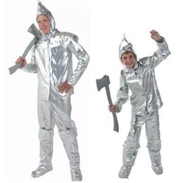 Wholesale Kids Wizard Costume - New arrival Halloween Tin Man clothing Men and Boys The wizard of oz Tin vestidos man clothing