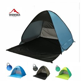 Wholesale pop up tent beach - Wholesale- Widesea pop up open beach tent 2-3 person sunshelter mash up color UV-protect quick automotic open for outdoor fishing camping