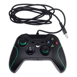 Wholesale Joystick Vibration Game - Wire Gamepad PS4 Game Controller Joystick for XBOX ONE and PC USB Wired Controller Gamepad with Dual Vibration Joypad