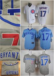 Wholesale Discount Black Uniforms - Chicago Cubs #17 Kris Bryant Baseball Jerseys Sports Team Starlin Castro Uniforms Discount Baseball Shirt Best Athletic Jerseys for Men